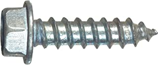 100-Pack The Hillman Group 70319 12-Inch x 1-1//4-Inch Hex Washer Head Slotted Sheet Metal Screw