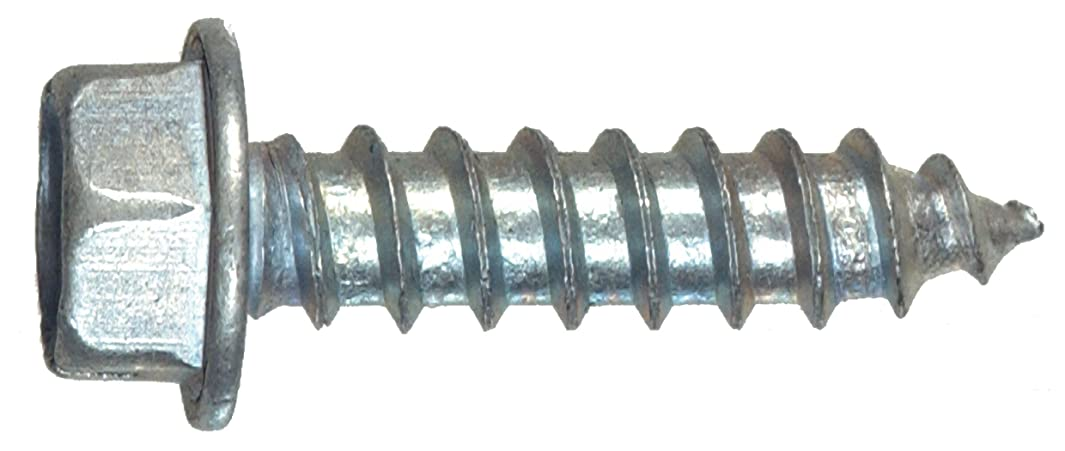 The Hillman Group 70253 6-Inch x 1/2-Inch Hex Washer Head Slotted Sheet Metal Screw, 100-Pack