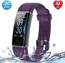 HolyHigh Smart Band Heart Rate/Sleep Monitor Waterproof Smart Watch Call Whatsapp Messages Alert 8 Day Battery Life Fitness Band Step Counter Calorie Counter Fitness Tracker Watch for Mens Women Boy Girl
