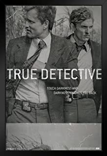 Pyramid America True Detective Film Negative Touch Darkness and Darkness Touches You Back HBO TV Black Wood Framed Poster 14x20