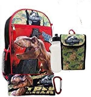 Boys 5 Pc Backpack Set, Black, One Size