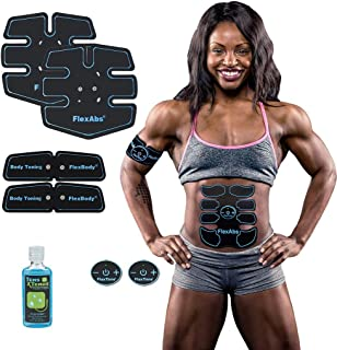 Flextone Abs Stimulator Muscle Toner - FDA 510K Cleared | Rechargeable Wireless EMS Massager for Weight Loss | The Ultimat...