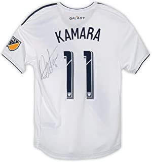Ola Kamara LA Galaxy Autographed Event-Worn #11 White Jersey from the 2019 MLS Media and Marketing Tour - Size M - Fanatics Authentic Certified