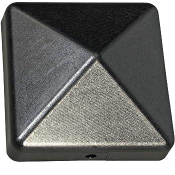 sterni1945 3 X Pyramide Pfostenkappe 7X7 cm schwarz pulverbeschichtet 71X71 mm Kappe Pfostenabdeckung Abdeckung Pfosten Pfostenschutz Pyramidenabdeckung 7,1X7,1cm//70X70 mm