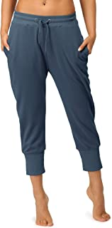 icyzone Capri Sweatpants for Women - Athletic Cropped Joggers French Terry Lounge Pants with Pockets
