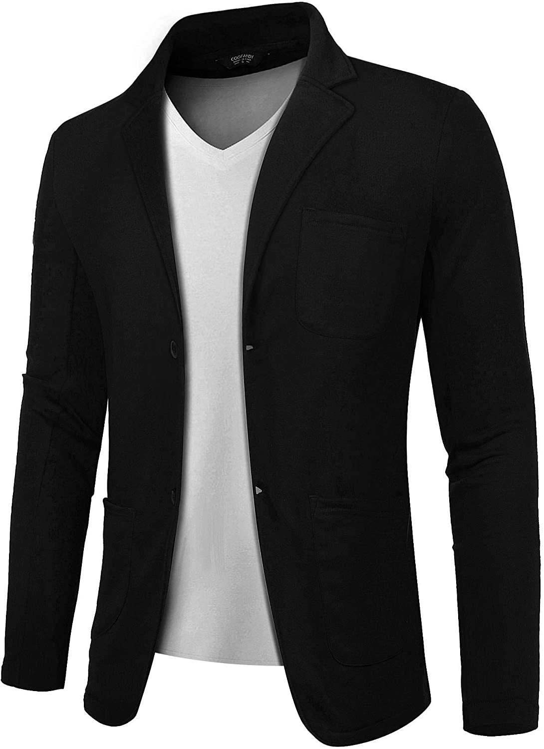 COOFANDY Lightweight Sports Coats Two Button Cotton BCasual Suit Blazer Jackets