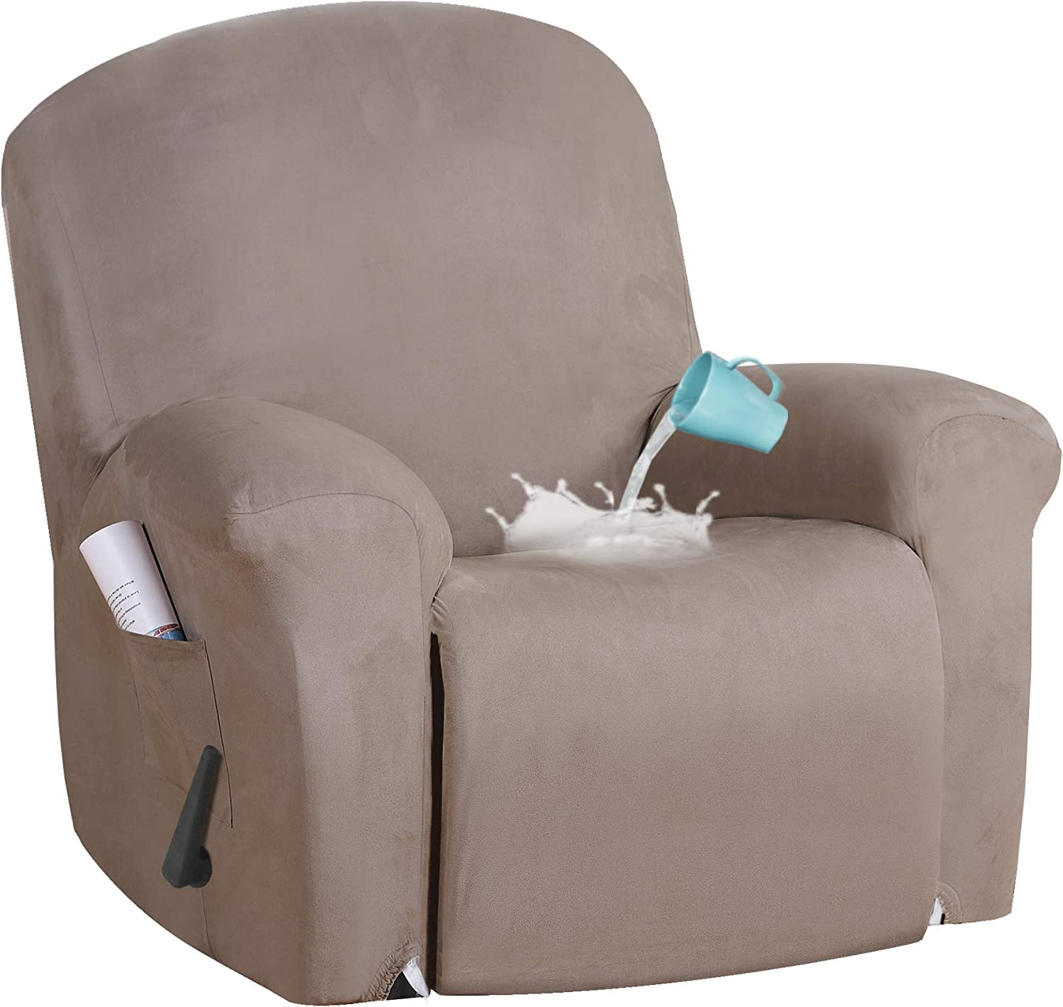 Stretch Suede Water Repellent Cove Rare Special price for a limited time Chair Cover Recliner