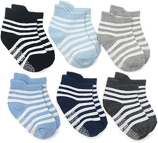 Toddler Socks,Non Slip Baby Socks With Grips for Infant Newborn Baby Girls Boys Kids - 6 Pairs