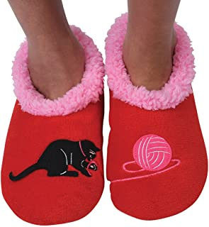 Womens Classic Splitz Applique Slipper Socks | Cozy Womens Slipper Socks | House Slipper Socks for Women | Cozy Slippers | Multiple Styles and Sizes