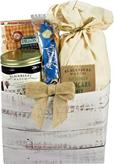 Gift Basket Village Downhome Breakfast Gift Pack - Breakfast GIft in Old Fashion Wooden Box with Pancake Mix, Gourmet Topp...