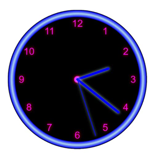 Neon Analog Clock
