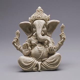 VORCOOL Arenisca Ganesha Elephant Estatua–Buda Escultura Figura, Hecho a Mano