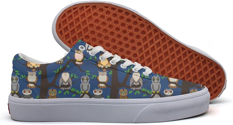 Cute Owl Women's Casual Sneakers Boat Lo-Top Nursing Original