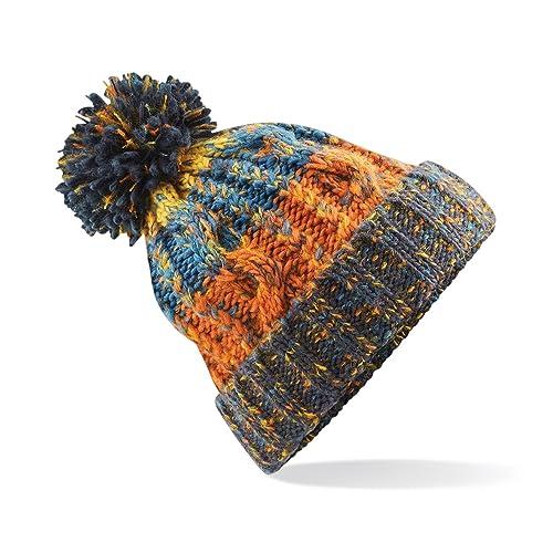 1146bb1d 583 Winter Bobble Hat Beanie - Ski Snowboard Chunky Knit Unisex Men's  Women's