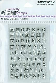 STAMPENDOUS SSC219 Small Typewriter Alphabet