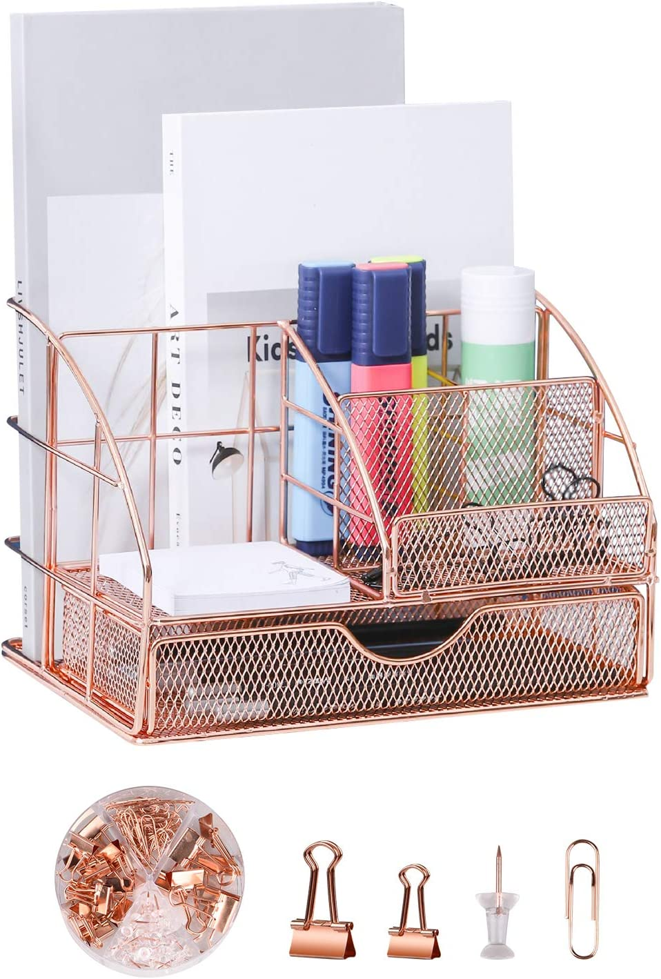 Rose Gold Ddesk Organizer and 9