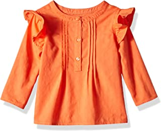 Gymboree Baby Girls Long Sleeve Ruffle Raglan Knit Tee