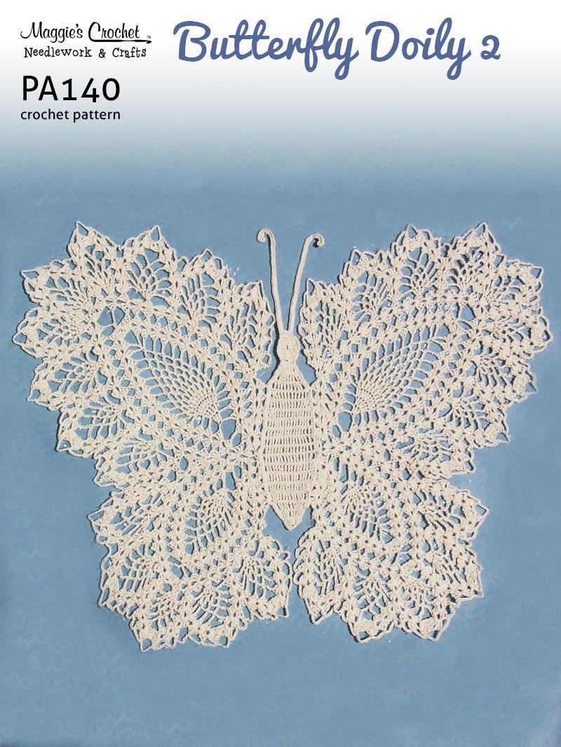 Vintage Crochet Butterfly Doily Motif Hair Clip PATTERN