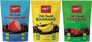 Next by Nature Dark Chocolate Fruit Variety Pack (3 oz Strawberry, Banana, Cherry) (Pack of 3)
