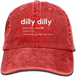 416525ec998 Dilly Dilly Bud Light Meaning Adult Washed Retro Denim Hats Adjustable Baseball  Cap Dad Hat