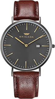 Cool Gray Minimalist Dress Watches for Men Waterproof, Business Casual Men's Wrist Watch with Calendar