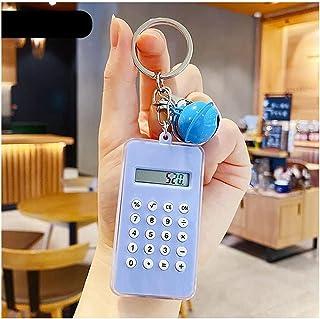 QUERT Mini Calculator Keychain Design Calculator Portable Cute Style Key Chain Bell Calculator Candy Color Pocket Calculator