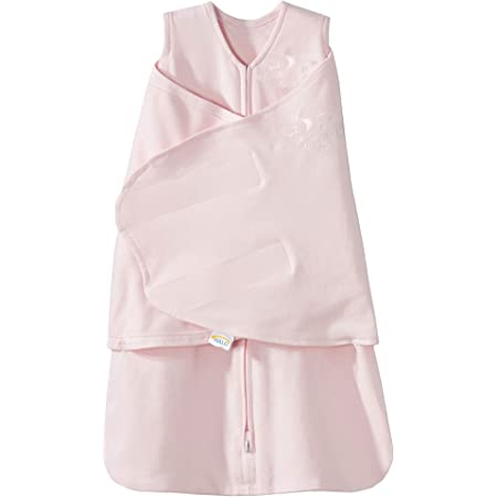 HALO 100% Cotton Sleepsack Swaddle, 3-Way Adjustable Wearable Blanket, TOG 1.5, Soft Pink, Newborn, 0-3 Months
