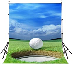 Lyly County Golf Photo Background 5x7ft Blue Sky Sports Photography Backdrops Club Studio Props Wall PB816