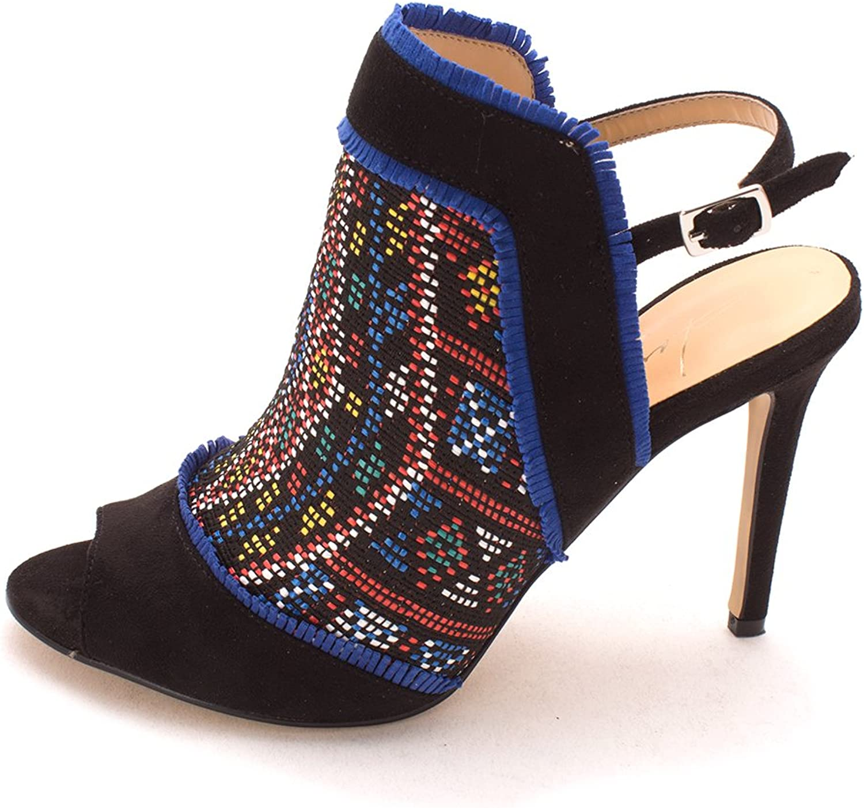 Daya by Zendaya Womens Melpink Fabric Open Toe Casual Slingback Sandals