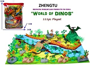 ZHENGTU Exclusive Animal Play Sets (World of Dinosaurs - 111 pcs with Play mat)