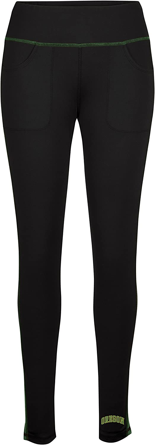 NCAA Women's Evie Ankle Length Leggings, Womens, Black Team Green, Small