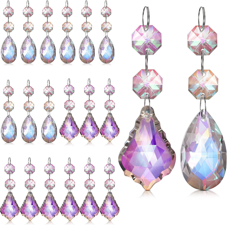20 Branded goods Pieces 38 mm Teardrop 25% OFF Leaf Crysta Chandelier Rainbow Crystals