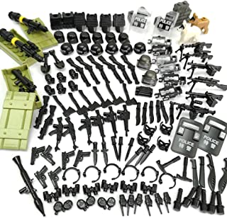 ZHX Military Weapons Accessories Army Series Swat Police Weapons Building Blocks for City Police, Best Kid's Gift Toys Compatible for Major Brand