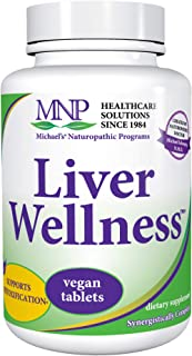 Michael's Naturopathic Programs Liver Wellness - 90 Vegan Tablets - Contains Nutrients for the Support of the Liver in its Detoxifying Functions - Vegetarian, Kosher - 30 Servings