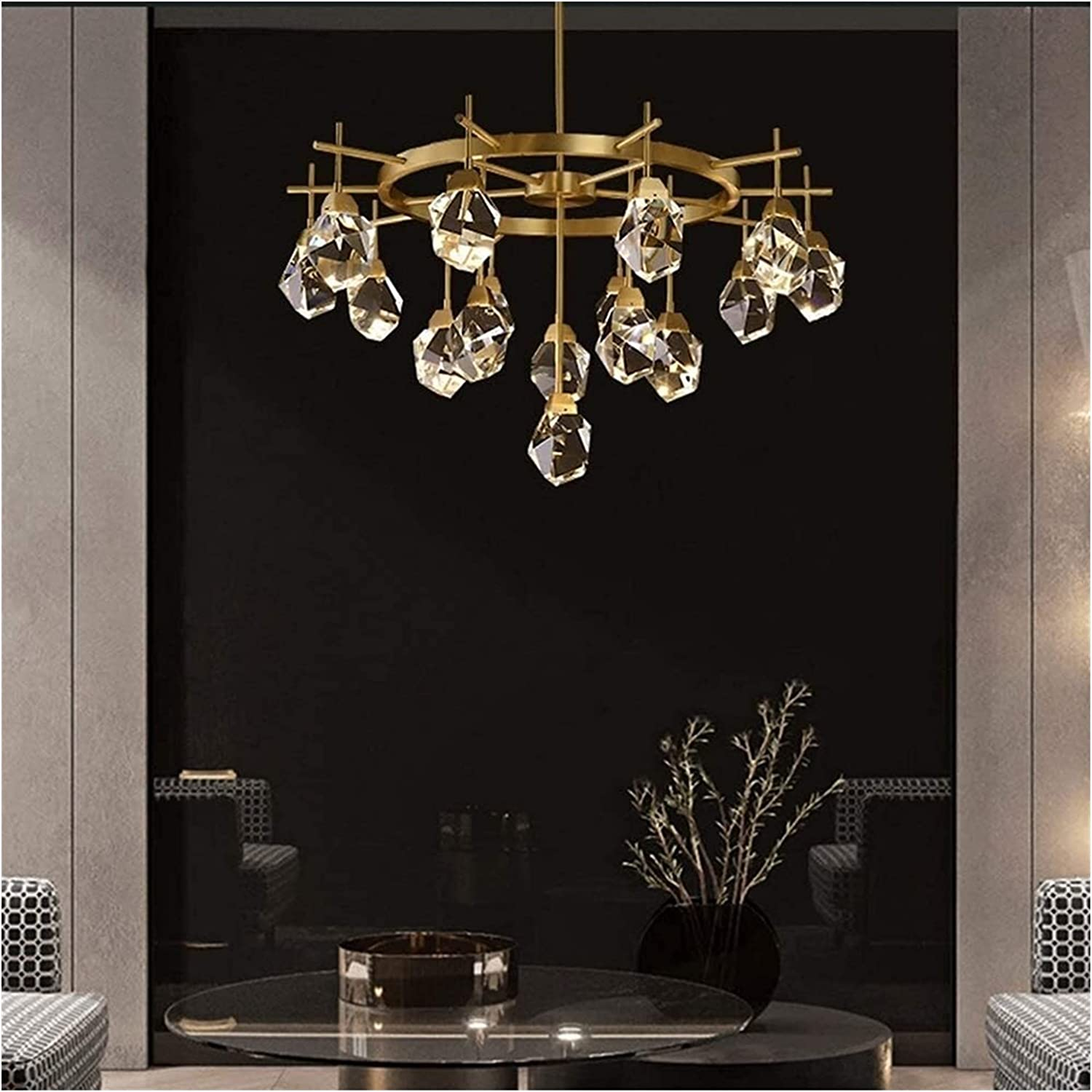 Hangarone Directly price managed store Crystal Chandelier Φ90 × cm Brass Luxury 51
