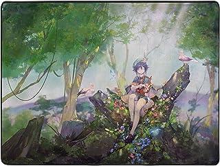 Karpet Anime Genshin Impact Venti Karakter Perifere Tapijt,Woonkamer Vloer Pad Antislip Absorberend Machinewasbaar 160 x 1...