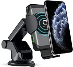 Automatic Clamping Vettora Wireless Car Charger Mount, 10W/7.5W Qi Fast Charging Car Phone Holder,Windshield Dashboard Air Vent Compatible with iPhone Xs/Max/X/XR/8/8 Plus,Samsung Note 9/ S9/ S9+/ S8