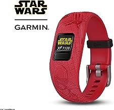 Garmin vívofit Jr 2, Kids Fitness/Activity Tracker, 1-Year Battery Life, Adjustable Band, Star Wars Dark Side, Red