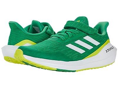 adidas Kids EQ21 Run Elastic (Little Kid) (Vivid Green/White/Acid Yellow) Kid