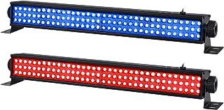 LED Stage Lights Bar, 2 Pack 20'' 25W 108LEDs RGB Wash Light Bar DMX Control Auto Play Strobe Effect Uplighting for Weddin...
