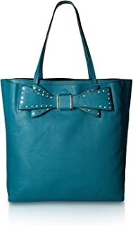 Womens Stud Bow Structured Tote