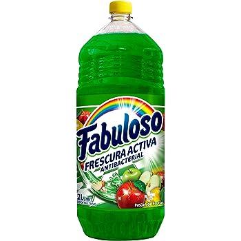Fabuloso Limpiador Líquido Fabuloso Antibacterial Frescura Profunda Pasión de Frutas, color Verde, 2 litros, pack of aquete de 1