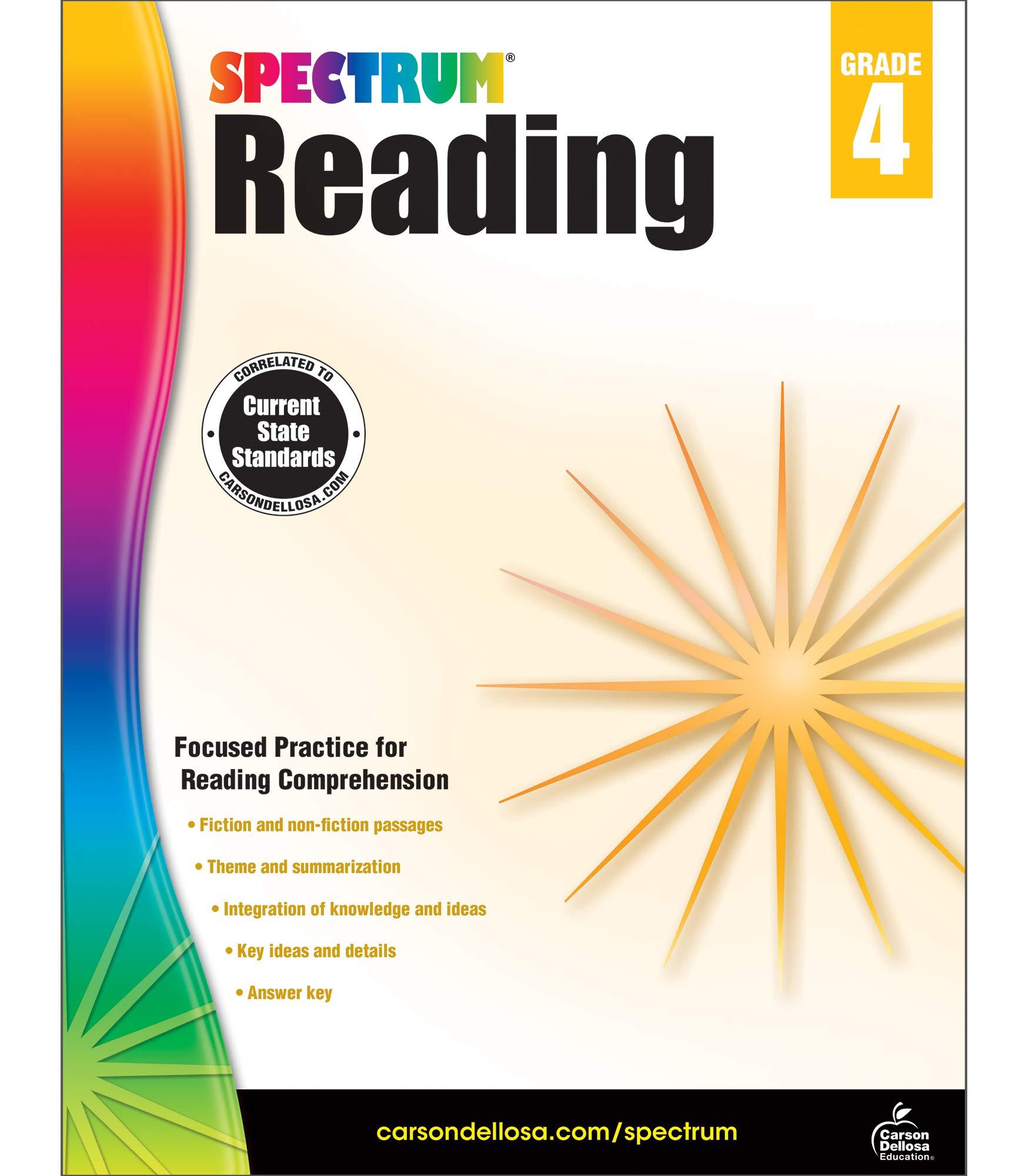 - Spectrum Reading Workbook 4th Grade, 174pgs - Buy Online In
