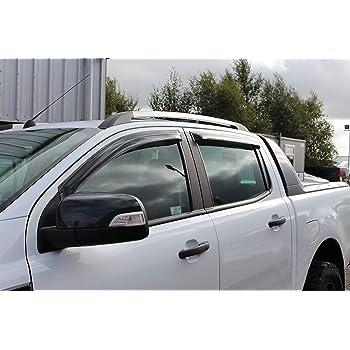 Jeu de 4 D/éflecteurs De Vent Heko Pour Ford RANGER 2011-2018