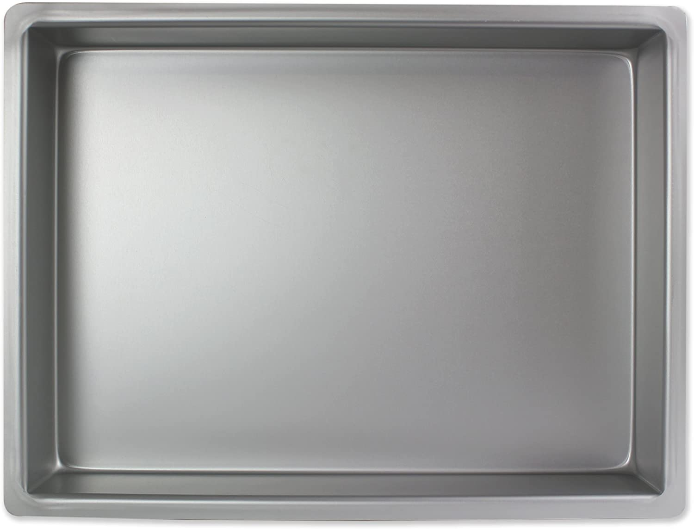 PME Professional Aluminum Oblong Cake Pan (12 x 18 x 4), Standard Silver
