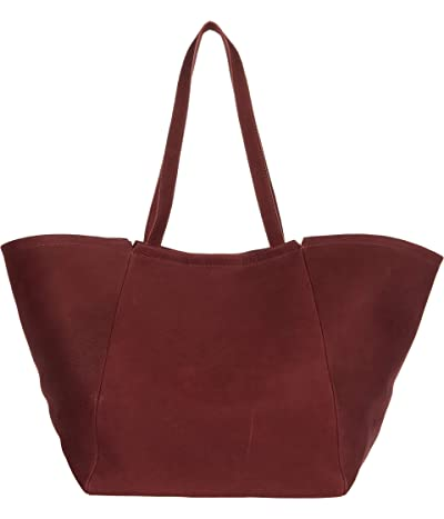 Madewell Large East/West Suede Tote (Pinot Noir) Handbags