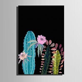 LTQ&QING new-Frameless Malerei, Leinwand Kunst Kaktus in in in der Nacht Dekoration Malerei, 5070 B07CSK26KM  Praktisch und wirtschaftlich 2088fd