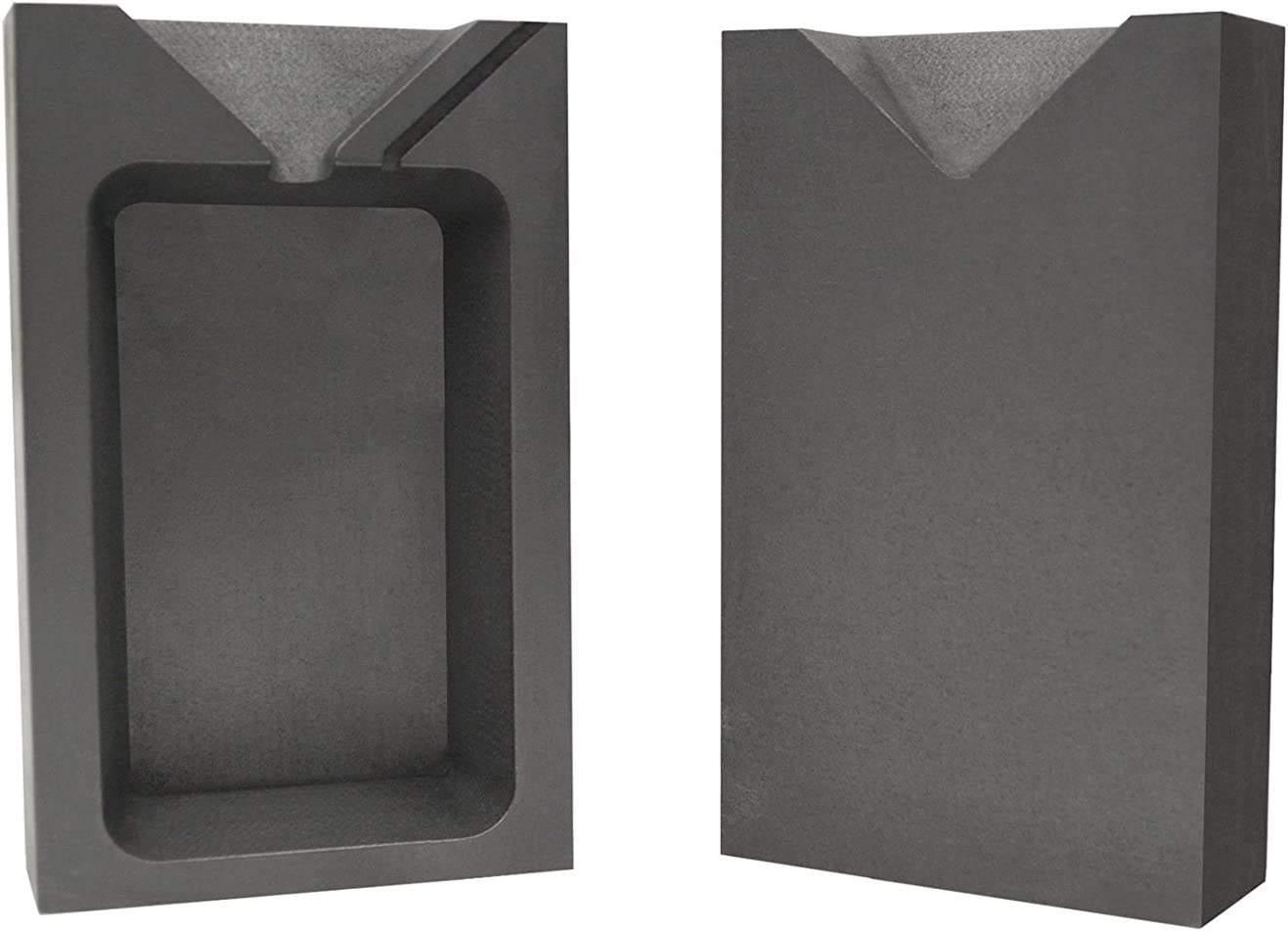 10 Troy Ounce Bargain Silver Rectangular Two Split M free shipping Graphite Ingot Part