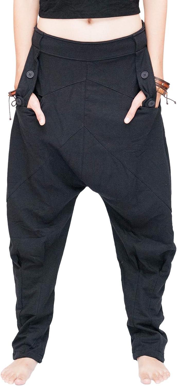 BohoHill Tapered Leg Bloomers Unisex Harem Pants Jersey Cotton
