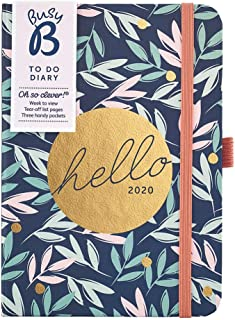 Busy B 2020 to Do Diary - A6 Floral Week to View Diary with Notes & Pockets